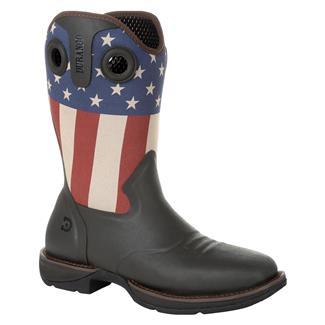 """Durango 12"""" Rebel Rancher Western Soggy Brown / Patriotic"""