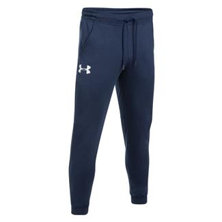 Under Armour Rival Fitted Tapered Joggers Midnight Navy / White