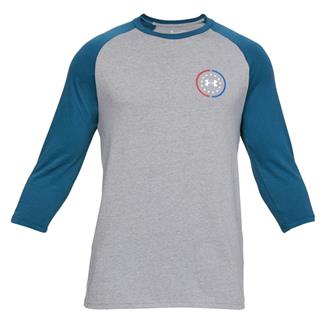 Under Armour Freedom United Utility Cotton T-Shirt Steel Heather / Petrol Blue