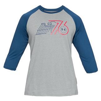 Under Armour Freedom Eagle 76 Utility Cotton T-Shirt Steel Heather / Petrol Blue