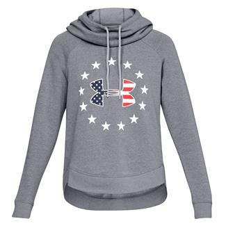 Under Armour Freedom Logo Favorite Hoodie Steel Light Heather / White