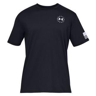 Under Armour Freedom Flag Cotton T-Shirt Black / White