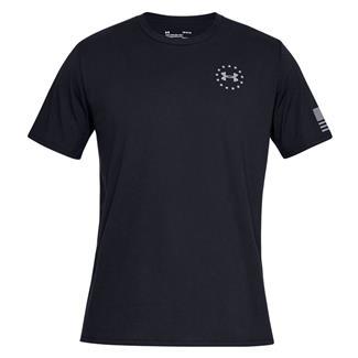 Under Armour Freedom Flag Cotton T-Shirt Black / Steel