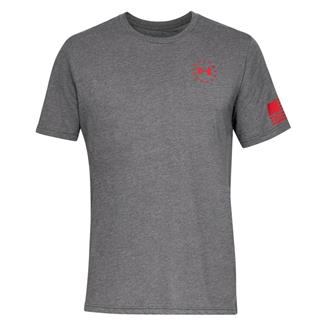 Under Armour Freedom Flag Cotton T-Shirt Charcoal Medium Heather / Red