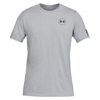 Under Armour Freedom Flag Cotton T-Shirt Steel Medium Heather / Black