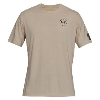 Under Armour Freedom Flag Cotton T-Shirt Desert Sand / Black