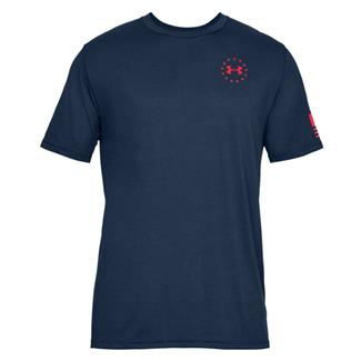Under Armour Freedom Flag Cotton T-Shirt Academy / Red