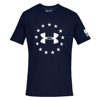 Under Armour Freedom Logo Cotton T-Shirt Academy / White