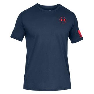 Under Armour Freedom Express Cotton T-Shirt Academy / Graphite / Red