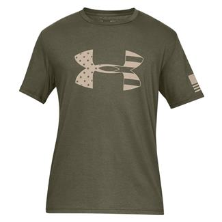Under Armour Freedom Tonal BFL Cotton T-Shirt Marine OD Green / Desert Sand