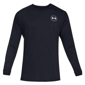 Under Armour Freedom Flag Cotton Long Sleeve T-Shirt Black / White