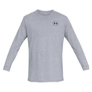 Under Armour Freedom Flag Cotton Long Sleeve T-Shirt Steel Light Heather / Black