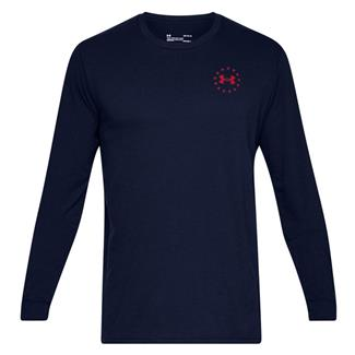Under Armour Freedom Flag Cotton Long Sleeve T-Shirt Academy / Red