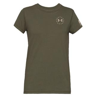 Under Armour Freedom Flag Cotton T-Shirt Marine OD Green / Desert Sand