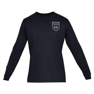 Under Armour Tactical Division Cotton Long Sleeve T-Shirt Black / Reflective