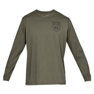 Under Armour Tactical Division Cotton Long Sleeve T-Shirt Marine OD Green
