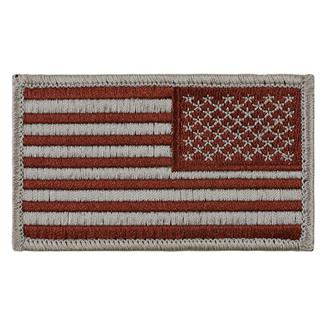 TG American Flag Reversed Patch Sheriff's Brown