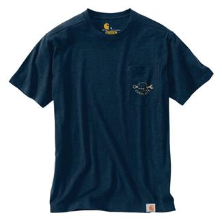 Carhartt Maddock Strong Graphic Pocket T-Shirt Indigo Heather