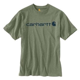 Carhartt Logo T-Shirt Oil Green Heather