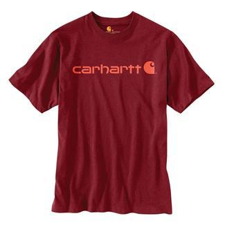 Carhartt Logo T-Shirt Sun Dried Tomato Heather
