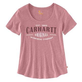 Carhartt Lockwear Graphic Workwear Scoop-Neck T-Shirt Brick Dust Heather
