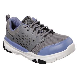 Skechers Work Soven SR Corrick Gray / Light Blue