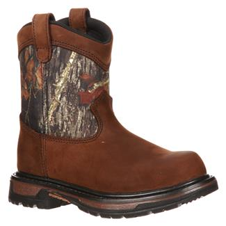 Kid's Rocky Ride Wellington WP Brown / Mossy Oak Break-Up