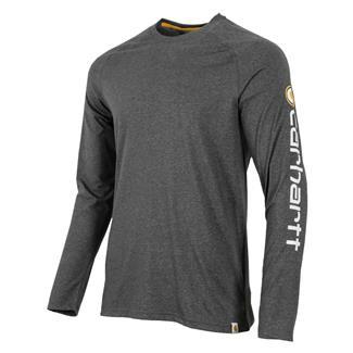 56d64e2e Carhartt Force Cotton Delmont Long Sleeve Graphic T-shirt Carbon Heather
