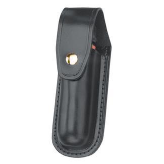 Gould & Goodrich Leather Aerosol Case with Brass Hardware Black Hi-Gloss