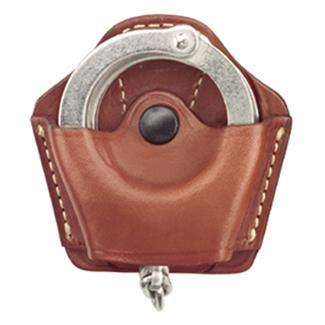Gould & Goodrich Compact Handcuff Case Plain Chestnut Brown