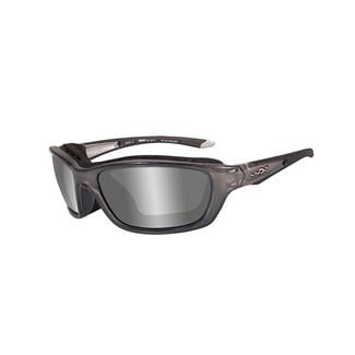 Wiley X Brick Crystal Metallic (frame) - Silver Flash (lens)