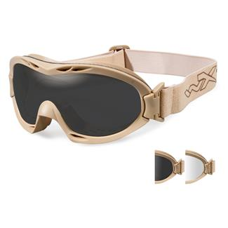 Wiley X Nerve Tan (frame) - Smoke Gray / Clear (2 Lenses)