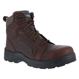 """Rockport Works 6"""" More Energy Lace to Toe Work CT WP Brown"""