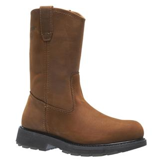 "Wolverine 10"" Leather Wellington ST Brown"