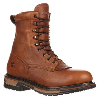 """Rocky 8"""" Original Ride Lacers WP Tan Pitstop"""