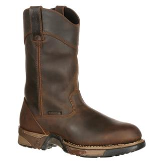 "Rocky 11"" Aztec Pull-On Leather ST WP Brown"