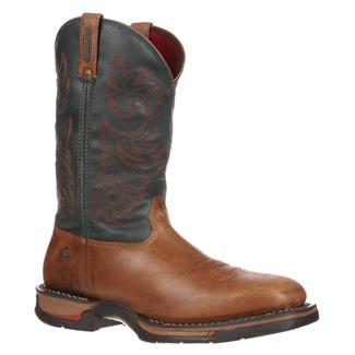 "Rocky 12"" Long Range Square Toe WP Trail Brown / Navy"