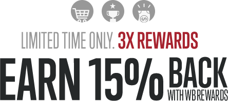 Earn 15% Back with WB Rewards.
