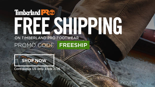 Free Shipping on Timberland PRO