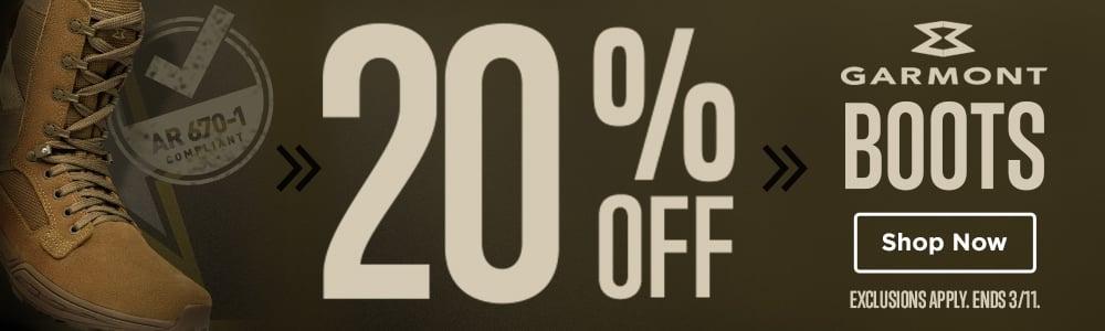 SALE: 20% OFF GARMONT BOOTS