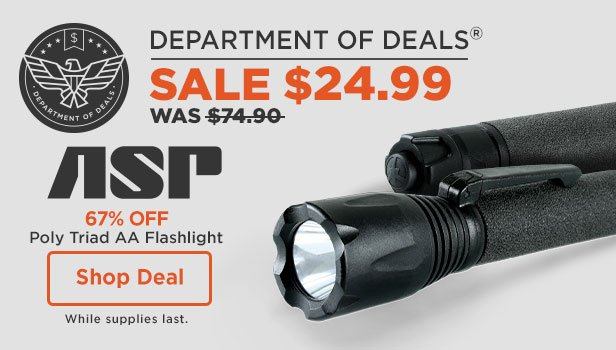 67% off ASP Poly Triad AA Flashlight