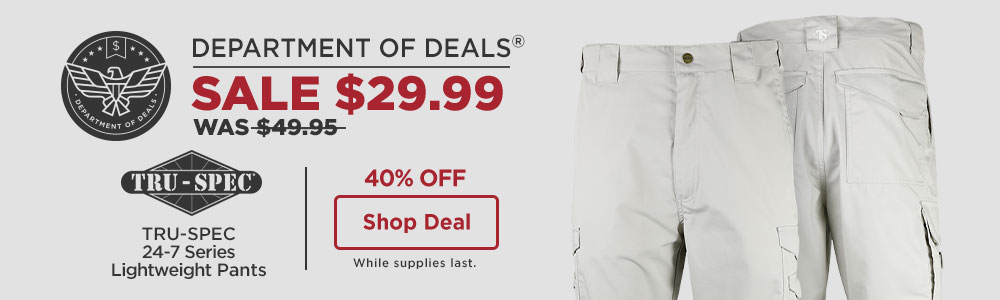 40% off TRU-SPEC 24-7 Series Lightweight Pants