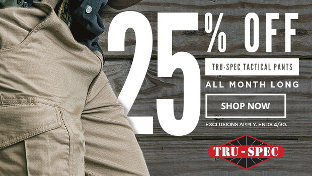 25% off Tru-Spec Pants
