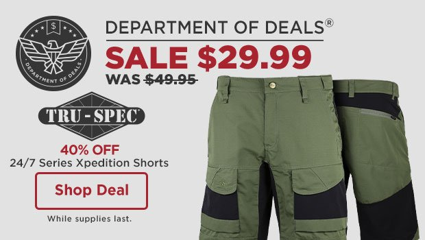 40% off Tru-Spec 24/7 Series Xpedition Shorts