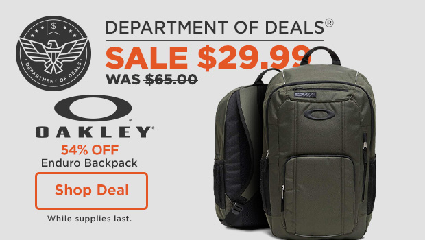 54% off Oakley Enduro Backpack