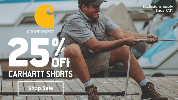 25% OFF CARHARTT SHORTS