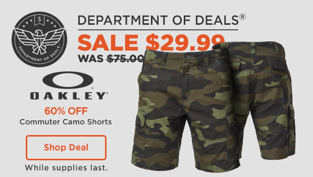 Oakley Commuter Camo Shorts