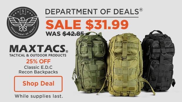 25% off Maxtacs Classic E.D.C Recon Backpacks