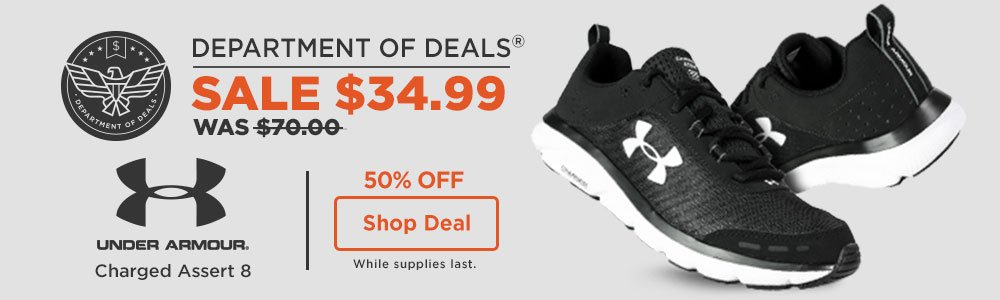 29% off Under Armour Charged Assert 8