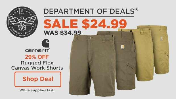 Carhartt Rugged Flex Canvas Work Shorts